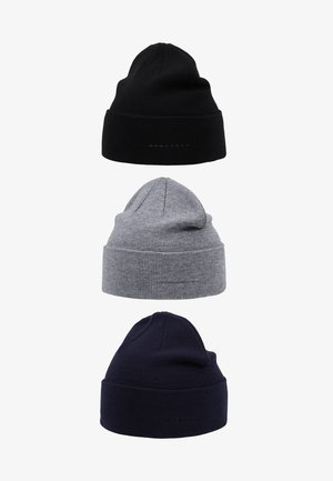3 PACK - Čepice - grey/dark blue/black
