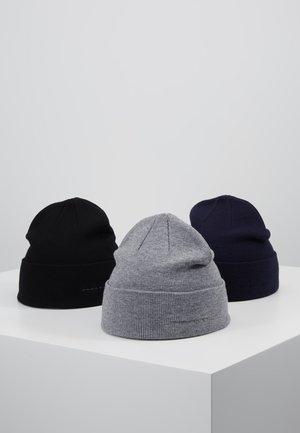 3 PACK - Čepice - grey/dark blue/black