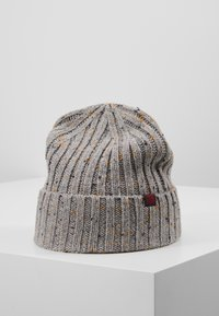 Pier One - Beanie - light grey/dark blue/mustard yellow - 0