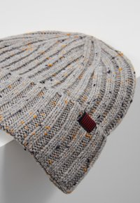 Pier One - Beanie - light grey/dark blue/mustard yellow - 4