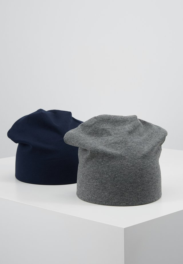 2 PACK - Mütze - grey/dark blue