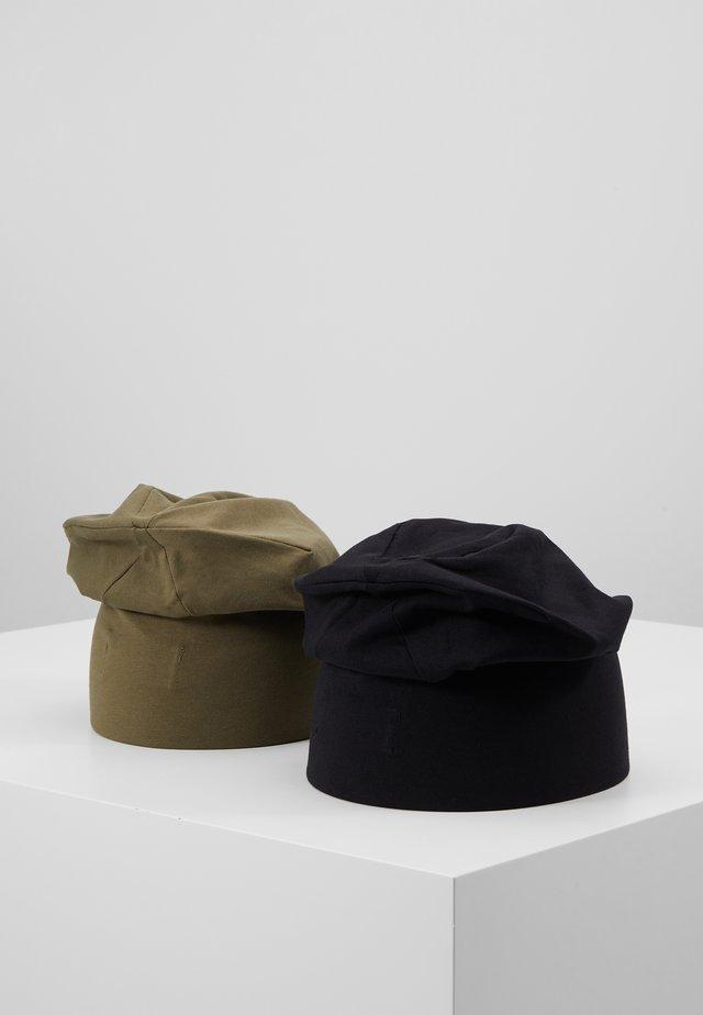 2 PACK - Gorro - black/olive