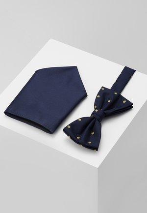 SET - Kapesník do obleku - dark blue/yellow