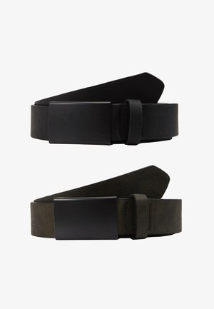 2 PACK - Bælter - oliv/black