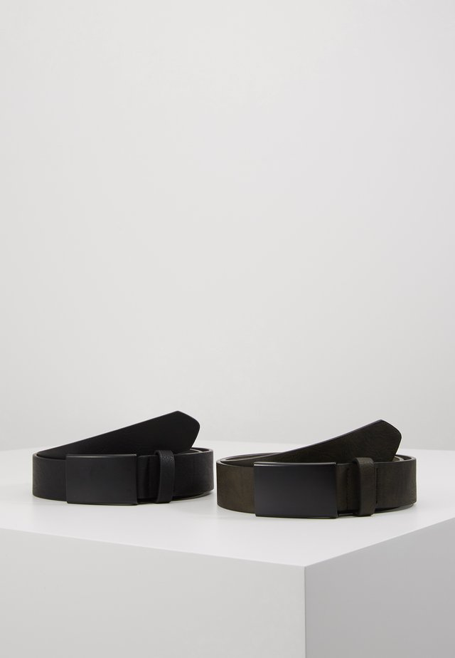 UNISEX 2 PACK - Cinturón - oliv/black
