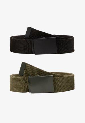 UNISEX 2 PACK - Belt - oliv/black