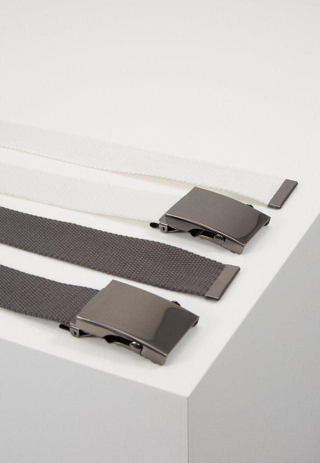 2PACK - Gürtel - white/dark gray