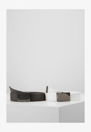 2PACK - Belt - white/dark gray