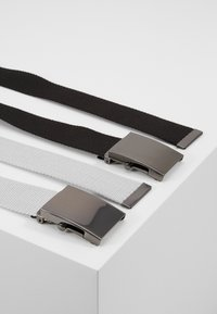 Pier One - UNISEX 2 PACK - Pásek - black/light grey - 3