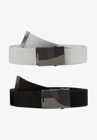 Pier One - UNISEX 2 PACK - Pásek - black/light grey - 1