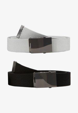 2PACK - Gürtel - black/light grey
