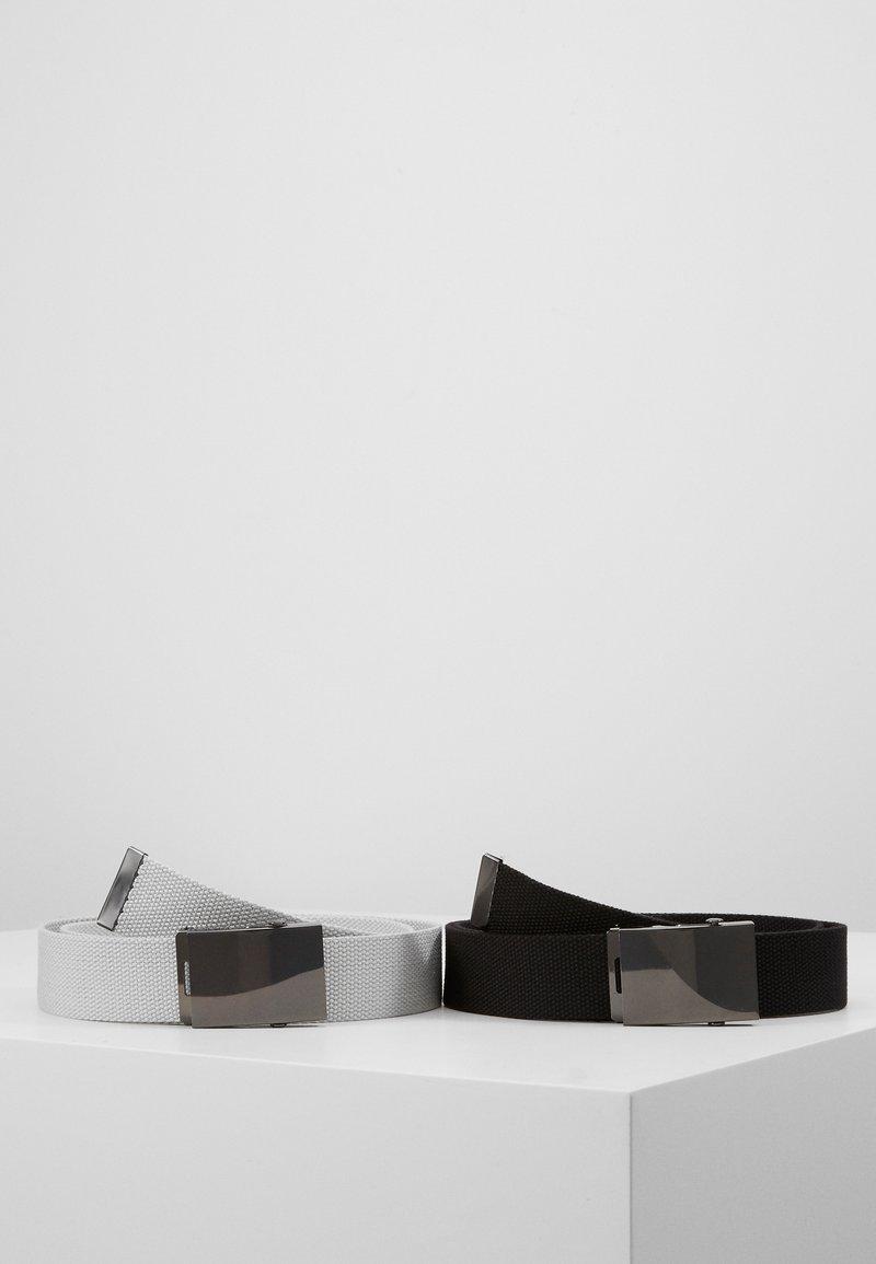 Pier One - UNISEX 2 PACK - Pásek - black/light grey