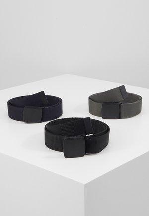 3 PACK UNISEX  - Belt - black/dark blue/grey