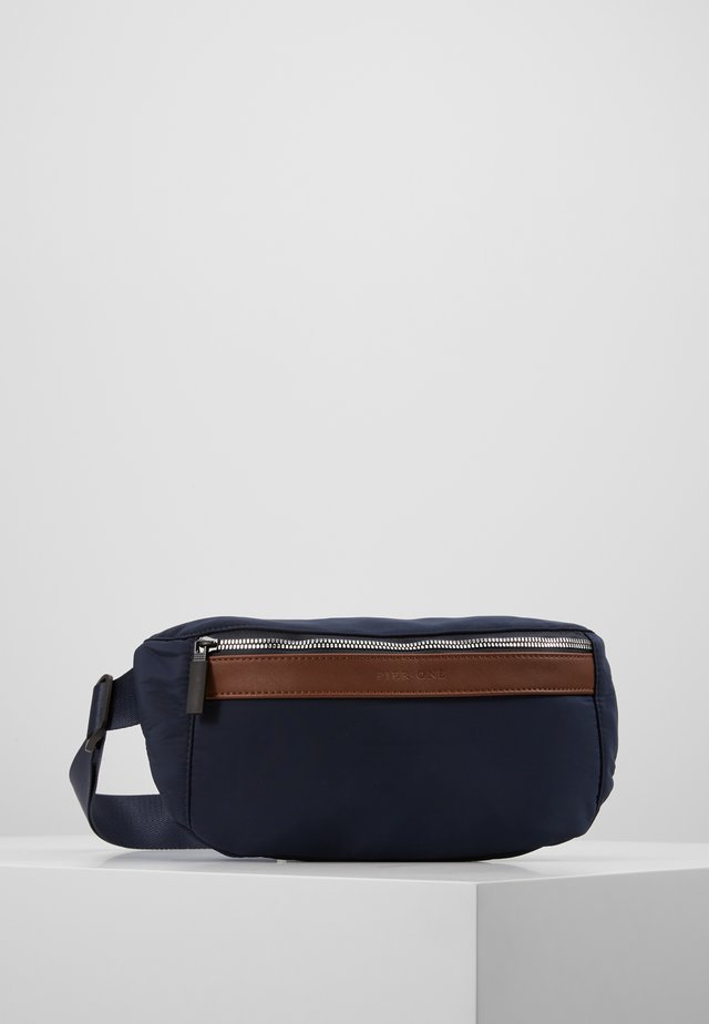 UNISEX - Bum bag - dark blue/cognac