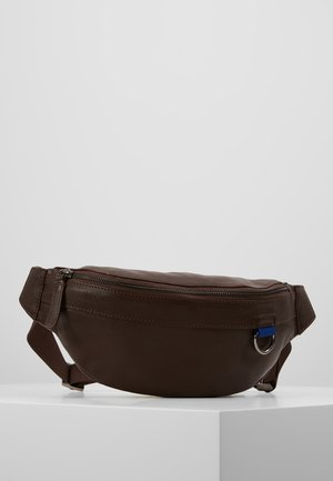 UNISEX LEATHER - Bum bag - dark brown