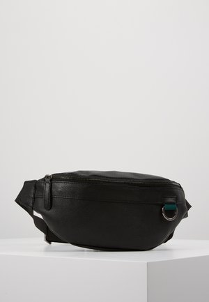 UNISEX LEATHER - Bältesväska - black