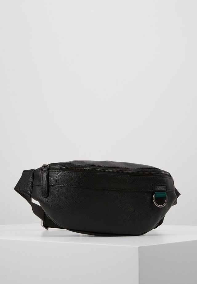 UNISEX LEATHER - Gürteltasche - black