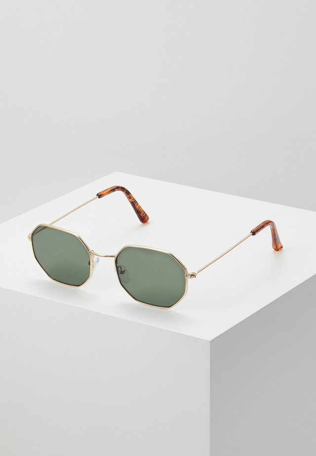 Sunglasses - gold-coloured/green