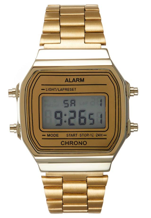 UNISEX - Digitální hodinky - gold