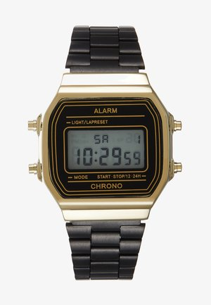 UNISEX - Digital watch - black/gold