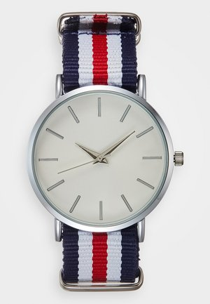 Uhr - silver-coloured/white/red