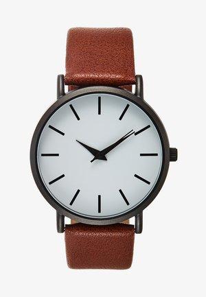 Watch - dark brown/gunmetal