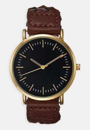 Uhr - dark brown/gold-coloured