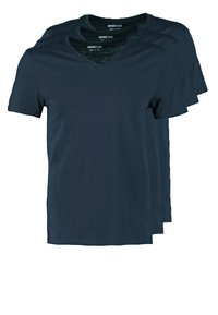 Pier One - 3 PACK - T-shirts basic - dark blue - 0