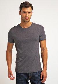 Pier One - 2 PACK - T-shirt basique - dark grey melange - 2