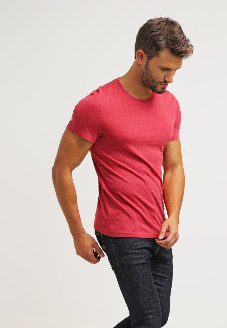 Pier One - 2 PACK - Basic T-shirt - red melange