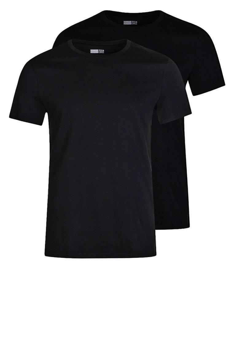 Pier One - 2 PACK - Camiseta básica - black