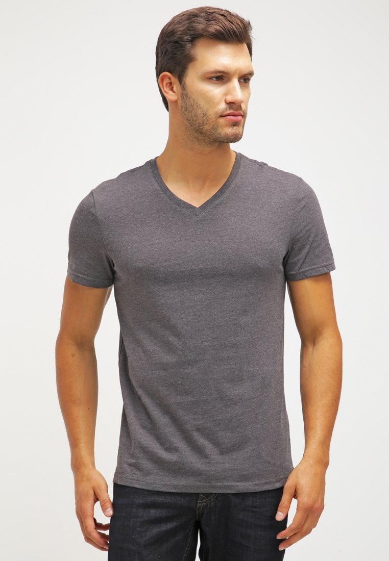Pier One - 2 PACK - T-shirt - bas - dark grey melange