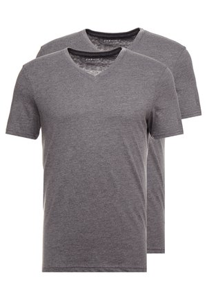 2 PACK - T-paita - dark grey melange