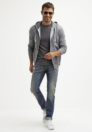 2 PACK - T-shirts basic - dark grey melange