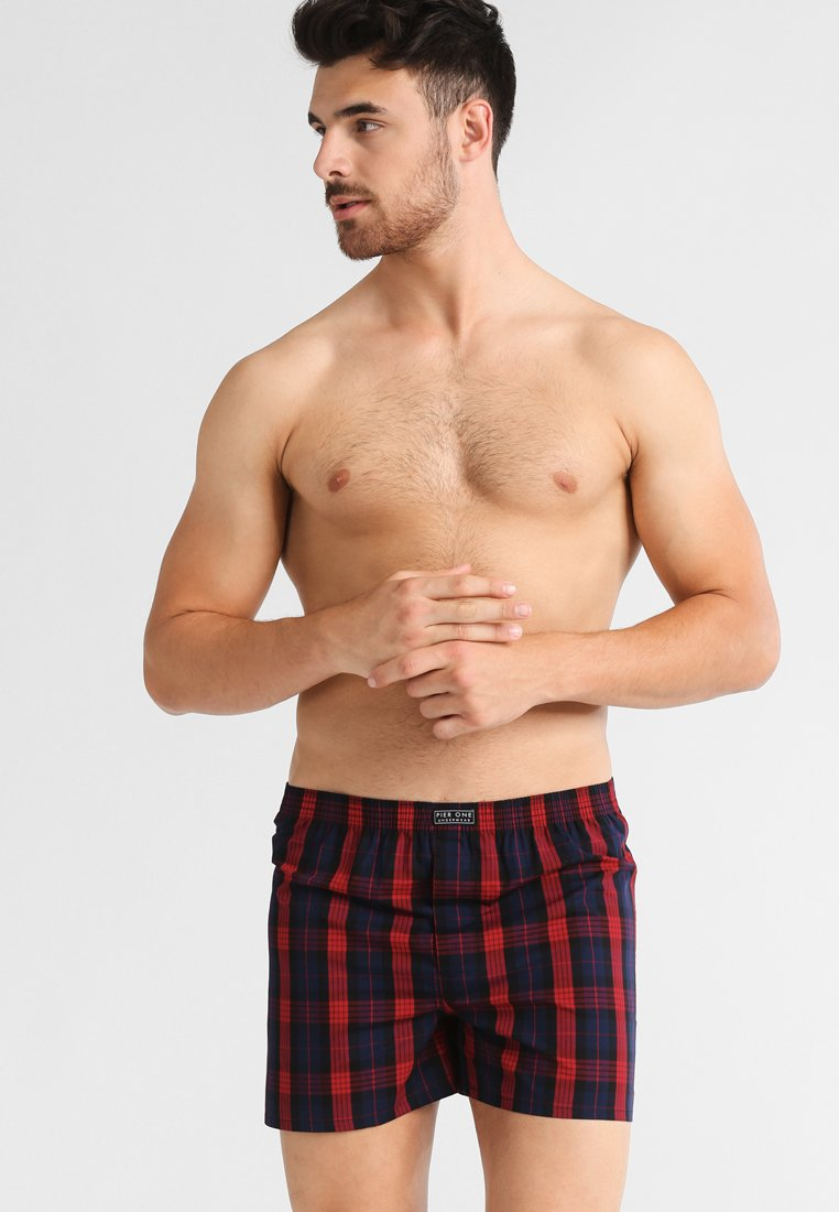 Pier One - TARTAN 3 PACK - Boxershorts - red