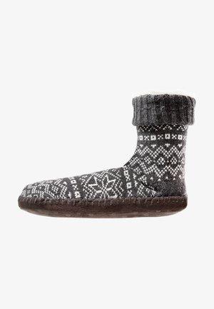SNOWFLAKE WINTER HOME SOCK - Domácí obuv - dark gray