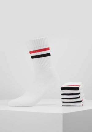 5 PACK - Strumpor - white/red/black