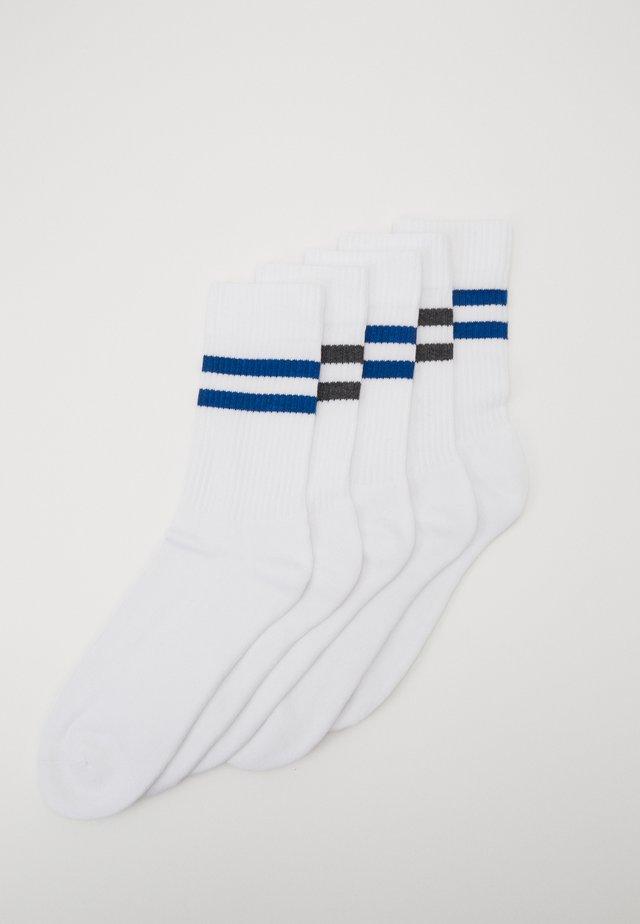 5 PACK - Socks - white/dark blue