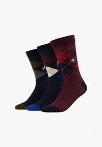 Pier One - 3 PACK - Ponožky - dark blue/dark red - 1