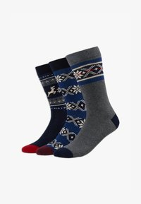 Pier One - 3 PACK - Ponožky - blue/grey - 1