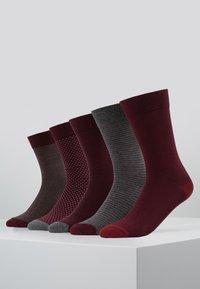 Pier One - 5 PACK - Socks - bordeaux - 0