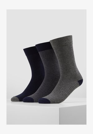 5 PACK - Strumpor - dark blue/mottled grey