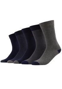 Pier One - 5 PACK - Ponožky - dark blue/mottled grey - 0