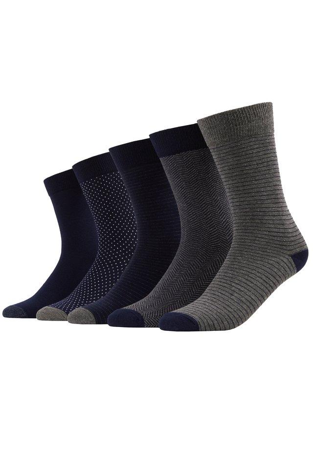 5 PACK - Sokken - dark blue/mottled grey