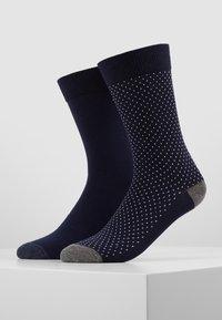 Pier One - 5 PACK - Ponožky - dark blue/mottled grey - 3