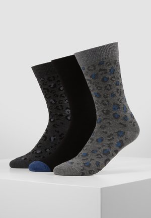 3 PACK - Socks - mottled grey