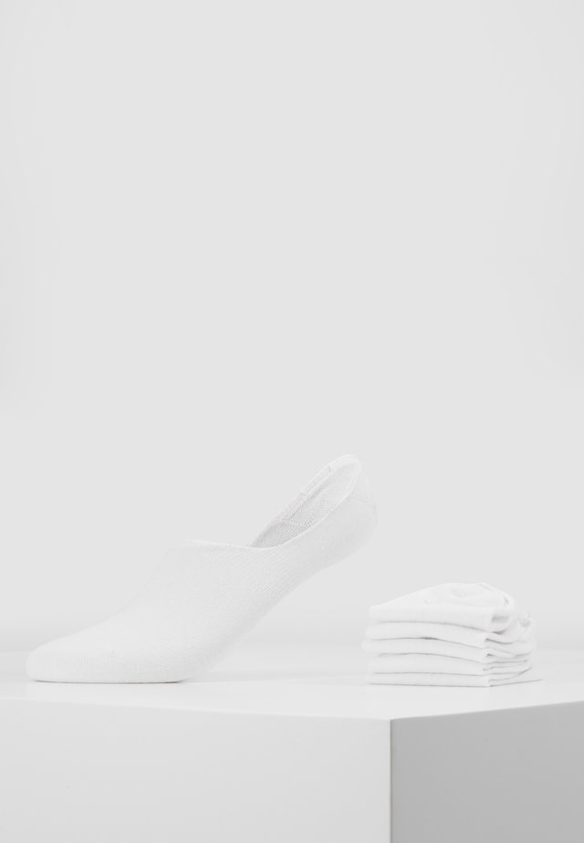 5 PACK - Calcetines tobilleros - white