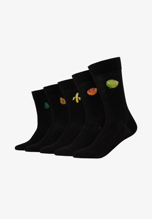 5 PACK - Chaussettes - black