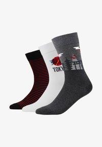 Pier One - 3 PACK - Socks - white/grey - 1