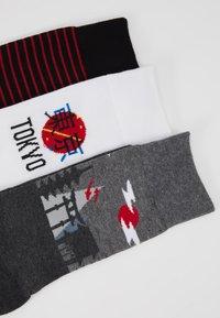 Pier One - 3 PACK - Socks - white/grey - 2